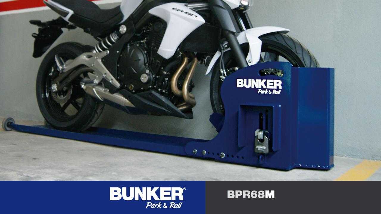 Bunker park roll moto bpr68m el mejor antirrobo moto para el parking o garage - Antirrobo moto garaje ...